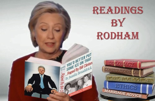 Hillary reads