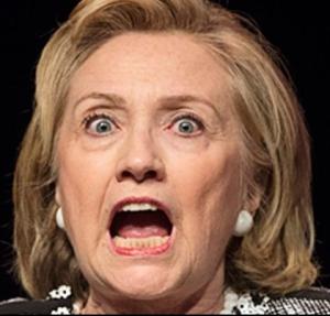 Hillary screaming again