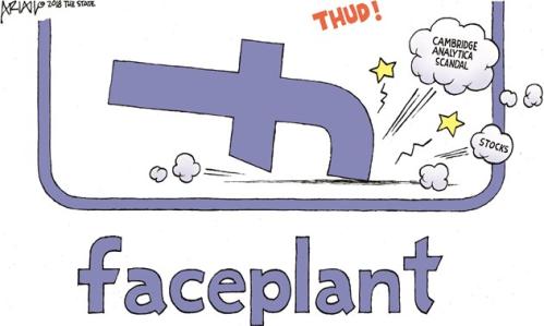 Facebook faceplant