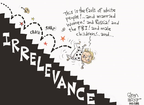 Hillary falling