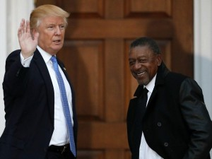 BET funder Robert Johnson and President Trump
