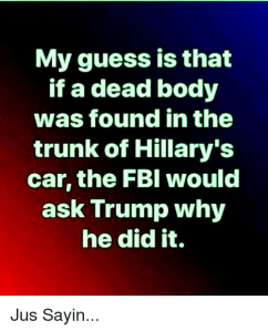 Hillary dead body in trunk