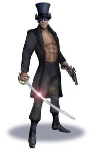 Mascot sword and pistol