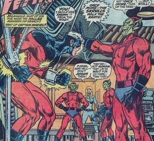 Captain Marvel and Skrulls