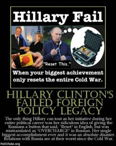 Hillary reset button
