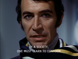 Peter Wyngarde without moustache