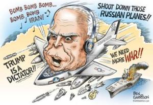 John McCain mad bomber