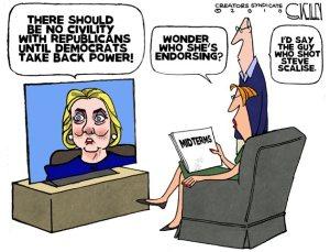 Hillary and Democrat violence