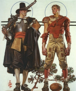 Pilgrim and football player