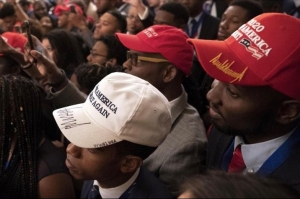Trump and black people in maga hats