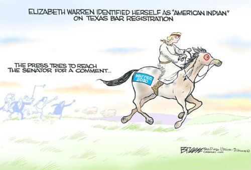 Elizabeth Warren on horse