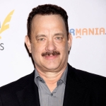 Tom Hanks with Hitler stache