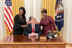 Trump and Diamond and Silk