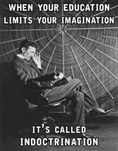 education limits your imagination