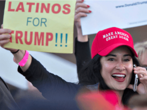 Latinos for Trump phone lady