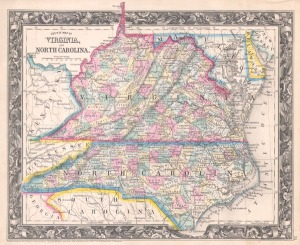 North Carolina and Virginia before the Civil War