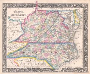 North Carolina and Virginia before the Civil War