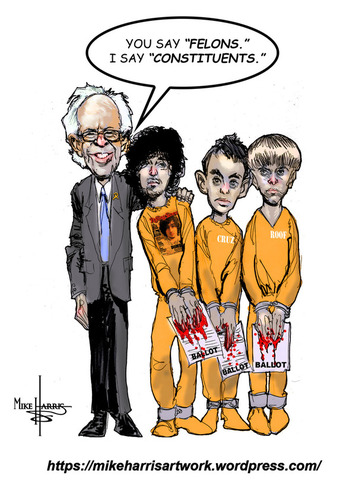 Bernie and felons