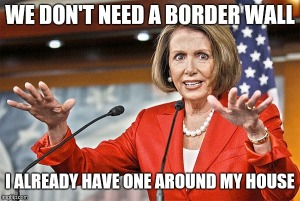 Nancy pelosi border wall