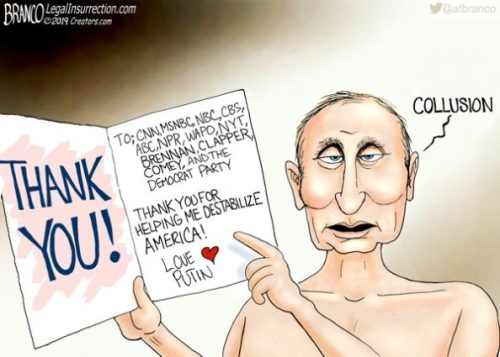 Putin thanks Democrats