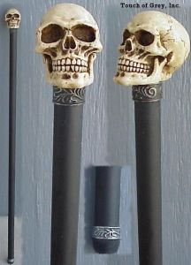 Skull walking stick 4