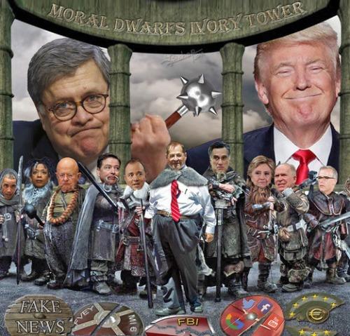 Trump and Barr vs dwarves