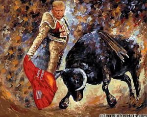 Trump as a matador