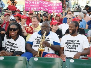 Trump black supporters in t-shirts