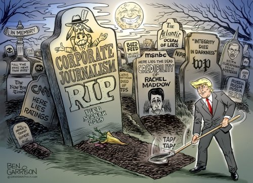 Trump burying corporate media