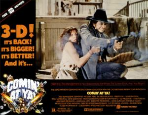 COMIN' AT YA!, Poster Art, Tony Anthony, Victoria Abril, 1985