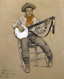 Banjo Player by Maynard Dixon