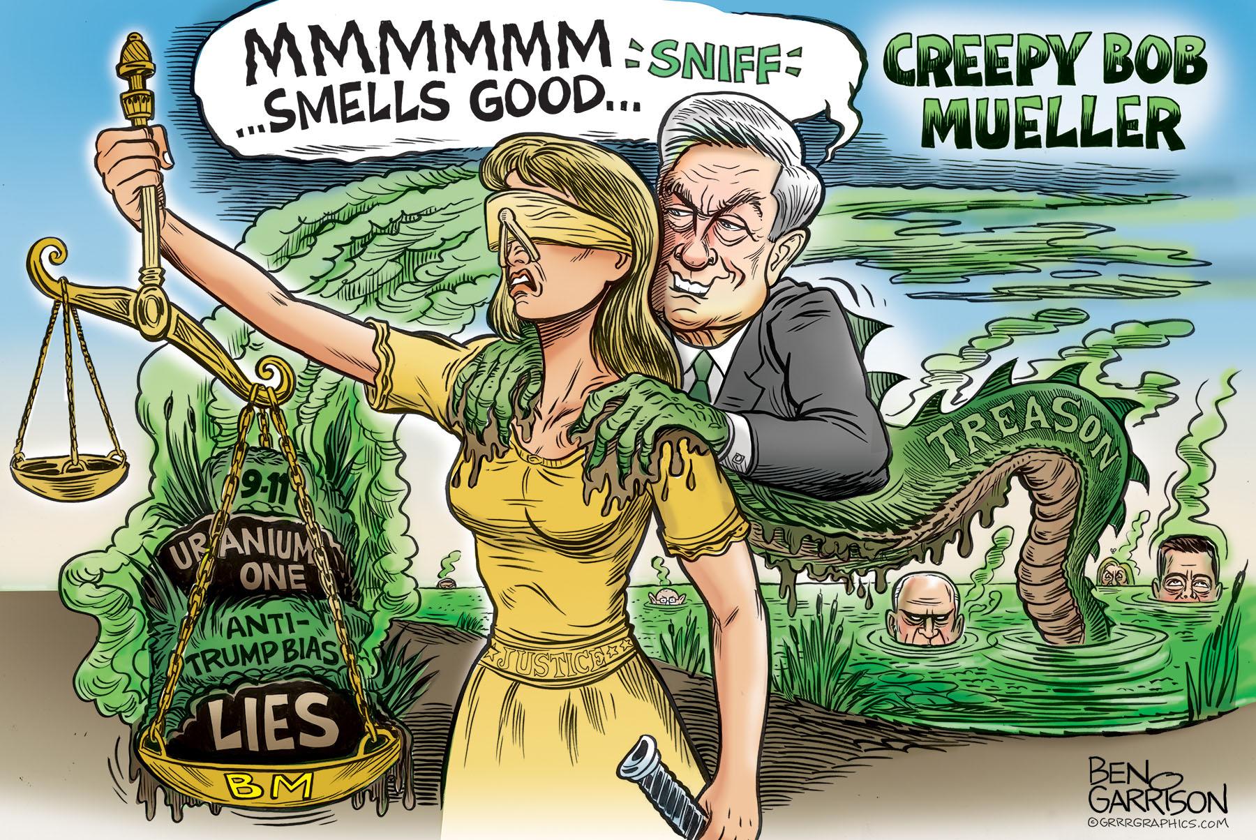 Mueller as Biden molesting Justice