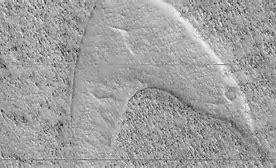 Starfleet Logo on Mars
