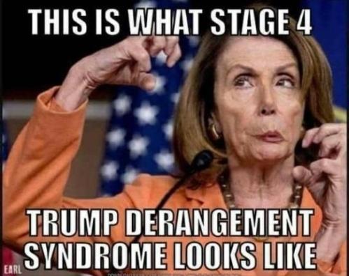 Pelosi stage 4 trump derangement syndrome