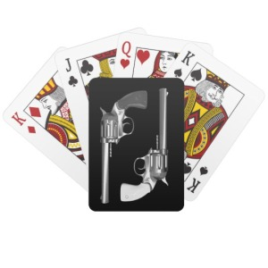 pistols and cards