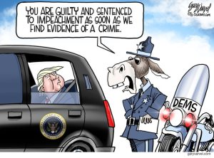 Trump and dem impeachment cartoon