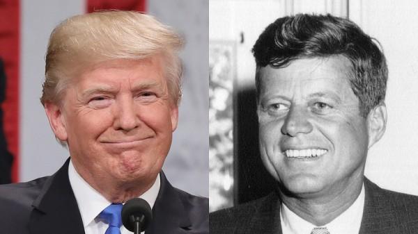 Trump and JFK pic