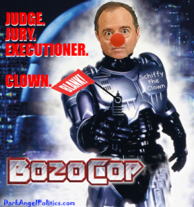 Schiff as bozocop