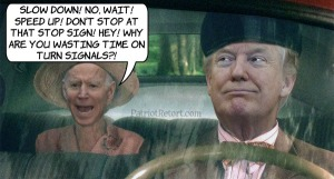 Trump with biden as backseat driver