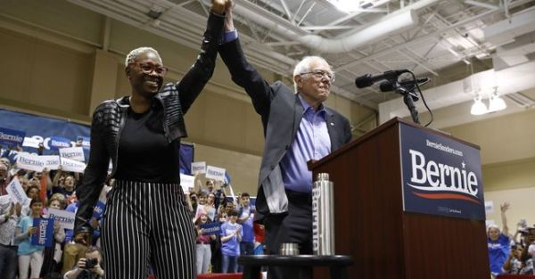 Nina Turner with Bernie Sanders
