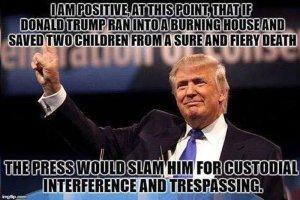president trump saving children