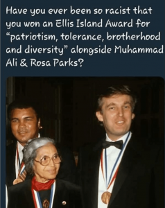 trump rosa parks and muhammad ali