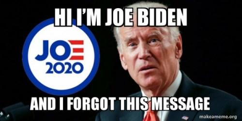 Biden forgot