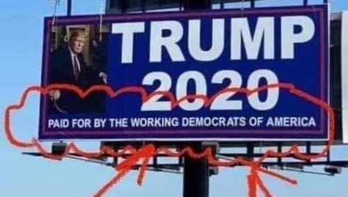 Trump democrats billboard