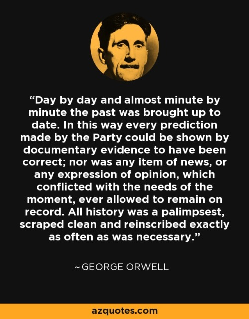 orwell party never wrong