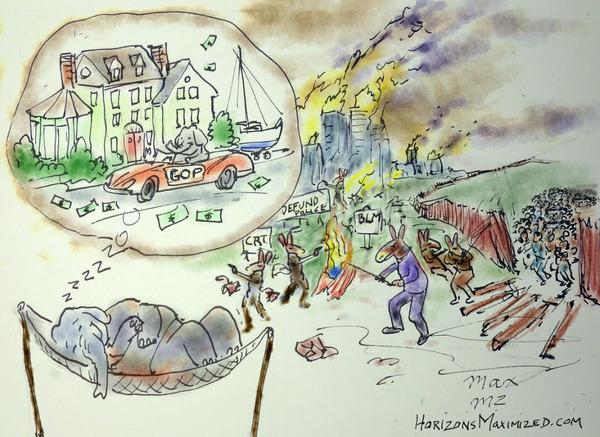 democrats and republicans cartoon