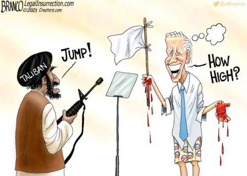 biden and taliban jump