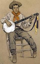banjo player by maynard dixon